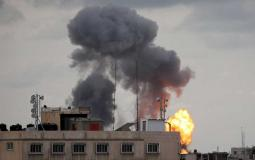 Smoke after an Israeli airstrike in southern the Gaza Strip  Feb. 24, 2020.  Photo by REUTERS/Ibraheem Ab